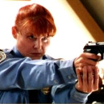Spice on Buffy as Policwoman